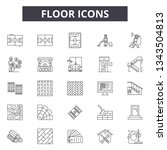 floor icons line icons for web... | Shutterstock .eps vector #1343504813