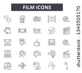 film line icons for web and... | Shutterstock .eps vector #1343505170