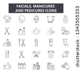 facials  manicures and... | Shutterstock .eps vector #1343505353