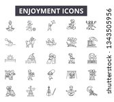 enjoyment line icons for web... | Shutterstock .eps vector #1343505956