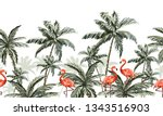 beautiful hand drawn tropic... | Shutterstock .eps vector #1343516903