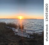 sundown over r gen  | Shutterstock . vector #1343518820