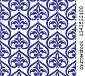 retro seamless pattern with... | Shutterstock .eps vector #1343533100