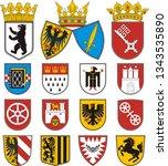 coats of arms of cities in...   Shutterstock . vector #1343535890
