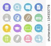 education web icons set in... | Shutterstock .eps vector #134353778