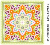 decorative colorful ornament on ... | Shutterstock .eps vector #1343539553