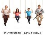 full length portrait of... | Shutterstock . vector #1343545826