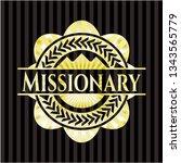 missionary shiny emblem | Shutterstock .eps vector #1343565779