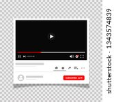 social media player multimedia...   Shutterstock .eps vector #1343574839