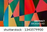modern geometric abstract... | Shutterstock .eps vector #1343579900