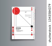 geometric modern design... | Shutterstock .eps vector #1343584379