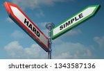 two street arrow signs  one is... | Shutterstock . vector #1343587136