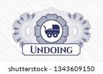 blue passport money rosette... | Shutterstock .eps vector #1343609150