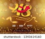 48 years anniversary logo... | Shutterstock .eps vector #1343614160