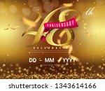 48 years anniversary logo... | Shutterstock .eps vector #1343614166