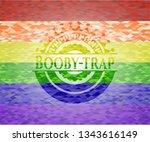 booby trap lgbt colors emblem  | Shutterstock .eps vector #1343616149