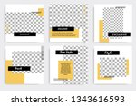 minimal design layout. editable ... | Shutterstock .eps vector #1343616593