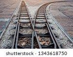 railways two ways and... | Shutterstock . vector #1343618750