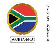 flag of south africa with name... | Shutterstock .eps vector #1343629190