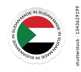 sudan flag vector.sudan... | Shutterstock .eps vector #1343629199
