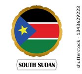 flag of south sudan with name... | Shutterstock .eps vector #1343629223