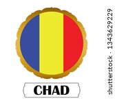flag of chad with name icon ... | Shutterstock .eps vector #1343629229