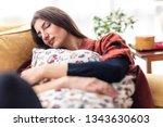 beautiful young woman enjoying... | Shutterstock . vector #1343630603