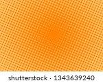 retro rays comic. orange... | Shutterstock .eps vector #1343639240