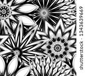 seamless floral background.... | Shutterstock .eps vector #1343639669