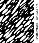 seamless vector abstract black... | Shutterstock .eps vector #1343661776