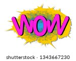 wow  awe message comic text... | Shutterstock .eps vector #1343667230