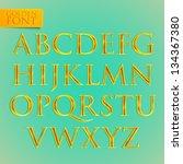 vector golden font | Shutterstock .eps vector #134367380