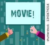 writing note showing movie.... | Shutterstock . vector #1343674316