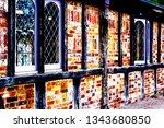 textured external old time... | Shutterstock . vector #1343680850