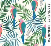seamless repeat pattern with... | Shutterstock .eps vector #1343707166