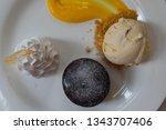 chocolate cake or chocolate... | Shutterstock . vector #1343707406