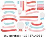 vector set of banners  ribbons  ... | Shutterstock .eps vector #1343714096