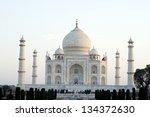 taj mahal  agra. taj mahal is a ... | Shutterstock . vector #134372630
