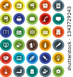 white solid icon set  vacuum... | Shutterstock .eps vector #1343729243