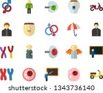 color flat icon set   holy... | Shutterstock .eps vector #1343736140