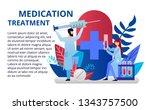 doctors doing laboratory... | Shutterstock .eps vector #1343757500