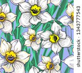 botanical seamless pattern with ...   Shutterstock .eps vector #1343777543