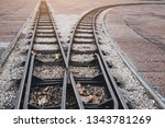 railways two ways and... | Shutterstock . vector #1343781269