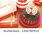 birthday celebration at sixty... | Shutterstock . vector #1343785913