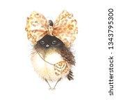cute small bird with... | Shutterstock . vector #1343795300