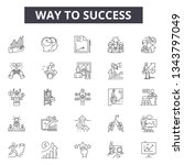 way to success line icons for... | Shutterstock .eps vector #1343797049