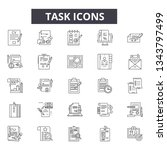 task line icons for web and... | Shutterstock .eps vector #1343797499