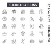 sociology line icons for web... | Shutterstock .eps vector #1343797526