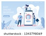 fashion people with shopping...   Shutterstock .eps vector #1343798069