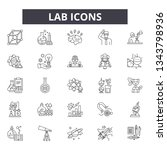 lab icons line icons for web... | Shutterstock .eps vector #1343798936